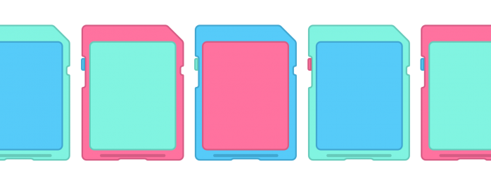 illustration of SD cards