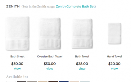 towels of different sizes